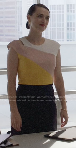 Lena's colorblock dress on Supergirl