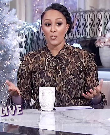Tamera's tiered leopard print dress on The Real