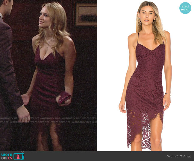 Lovers + Friends Skylight Dress worn by Summer Newman (Hunter King) on The Young & the Restless
