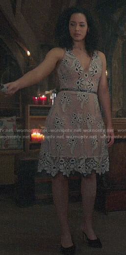 Macy's lace v-neck dress on Charmed