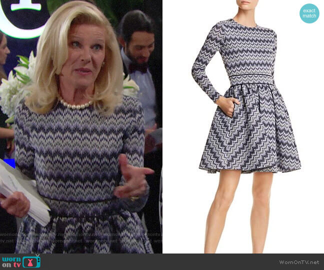 Maje Royaume Dress worn by Pamela Douglas (Alley Mills) on The Bold & the Beautiful
