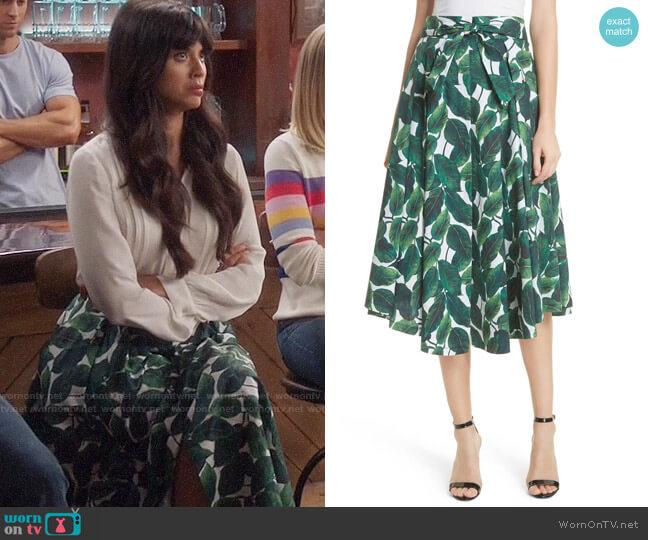 Milly Jackie Print Skirt worn by Tahani Al-Jamil (Jameela Jamil) on The Good Place