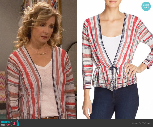 Nic + Zoe Painted Desert Tie-Front Cardigan worn by Vanessa Baxter (Nancy Travis) on Last Man Standing