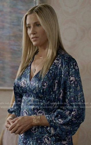 Nicole's blue floral dress on Modern Family