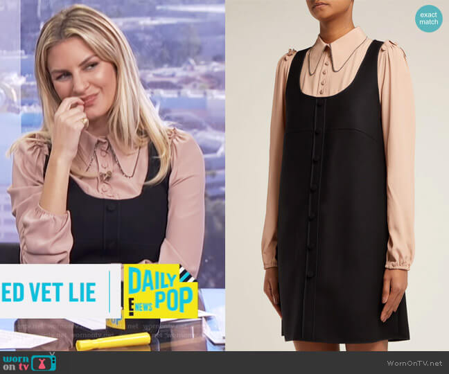 Layered Pinafore Dress by No. 21 worn by Morgan Stewart on E! News