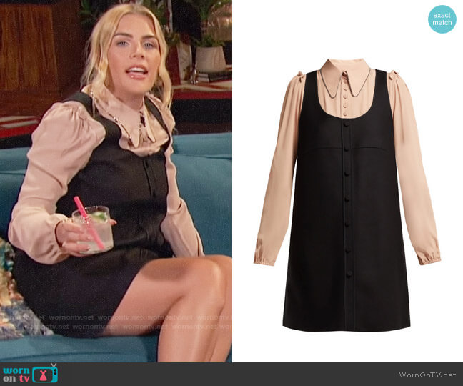 No. 21 Layered Pinafore Dress worn by Busy Philipps  on Busy Tonight