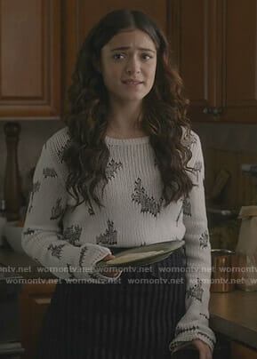Olive's white and black sweater on Manifest