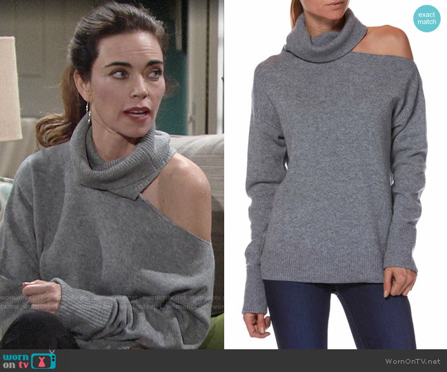 Paige Raundi Sweater worn by Victoria Newman (Amelia Heinle) on The Young & the Restless