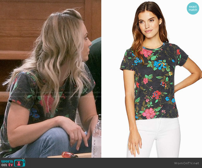 Pam & Gela Floral Tee worn by Kaley Cuoco on The Big Bang Theory