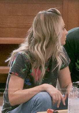 Penny's floral tee on The Big Bang Theory