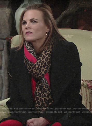 Phyllis's black coat on The Young and the Restless