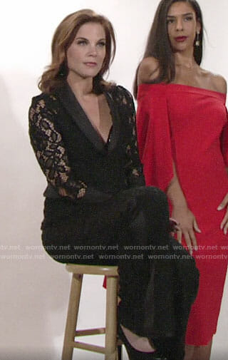 Phyllis's black lace suit on The Young and the Restless