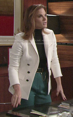 Phyllis's white blazer on The Young and the Restless