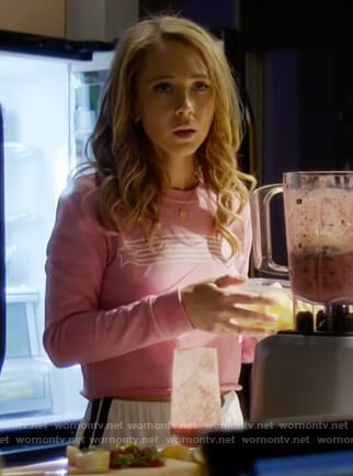 Veronica's pink star print sweatshirt on Dirty John