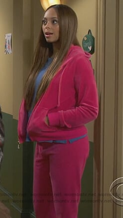 Claire's pink velour jacket on Happy Together