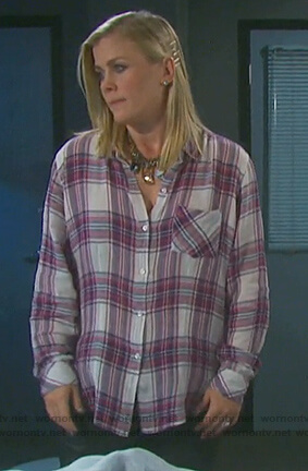 Sami's plaid shirt on Days of our Lives