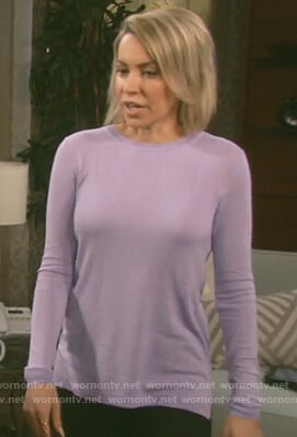 Mimi's purple glitter sweater on Days of Our Lives