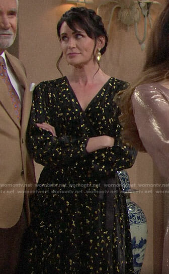 Quinn's black and gold Thanksgiving dress on The Bold and the Beautiful