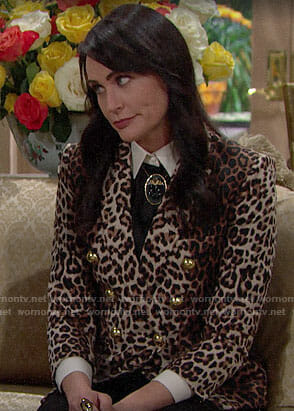 Quinn's leopard print blazer on The Bold and the Beautiful