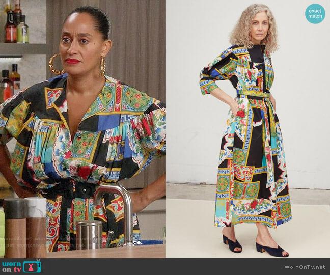 Rachel Comey Ardito Dress worn by Rainbow Johnson (Tracee Ellis Ross) on Blackish