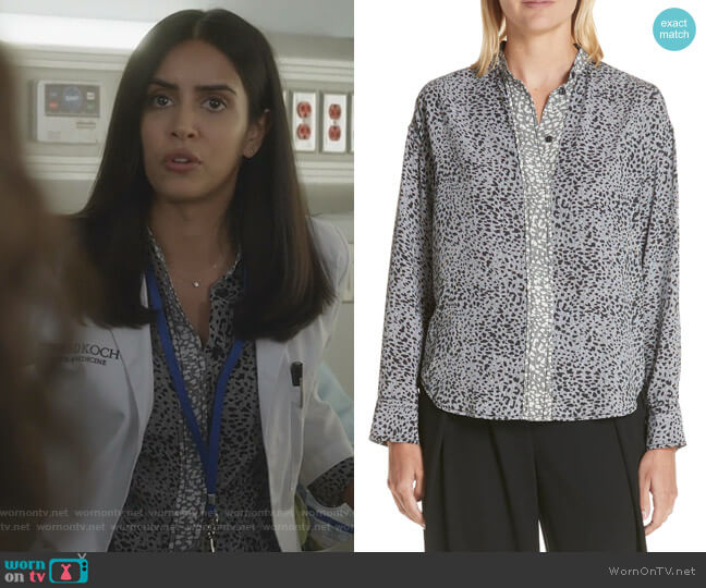 Saanvi's grey leopard print shirt on Manifest