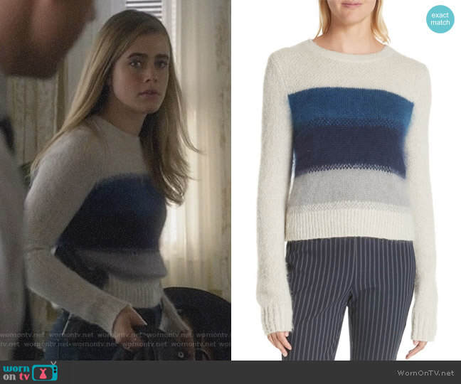 Michaela's colorblock sweater on Manifest