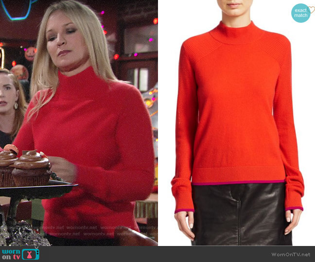 Rag & Bone Yorke Sweater worn by Sharon Collins (Sharon Case) on The Young & the Restless