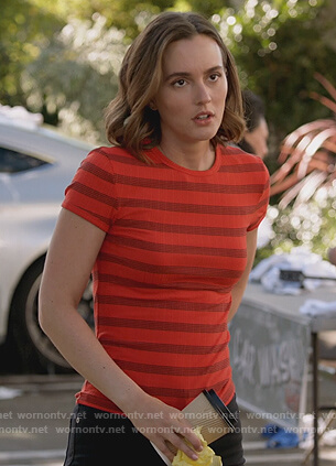 Angie's red striped top on Single Parents