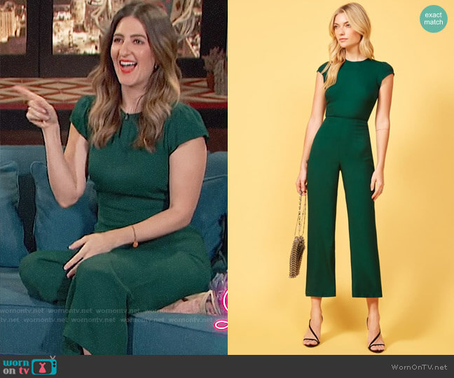 Reformation Mayer Jumpsuit in Emerald worn by D'Arcy Carden
