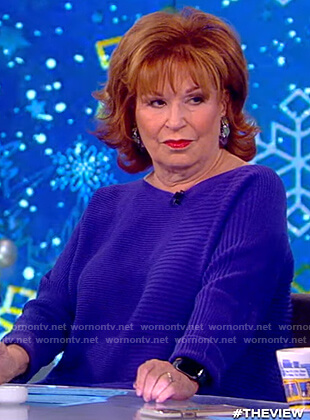 Joy's blue ribbed sweater on The View