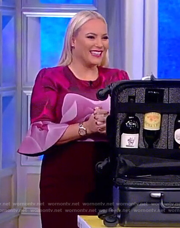 Meghan's pink rose print dress on The View