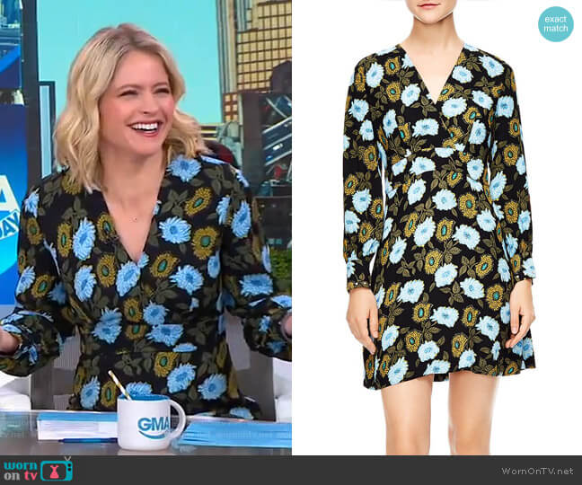 Brut Dress by Sandro worn by Sara Haines  on Good Morning America