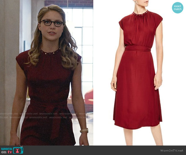 Sandro Conique Dress worn by Kara Danvers (Melissa Benoist) on Supergirl