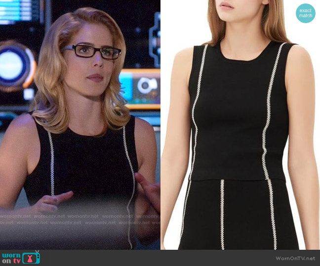 Sandro Safa Top worn by Felicity Smoak (Emily Bett Rickards) on Arrow