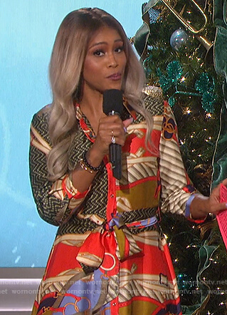 Eve's belt print shirtdress on The Talk