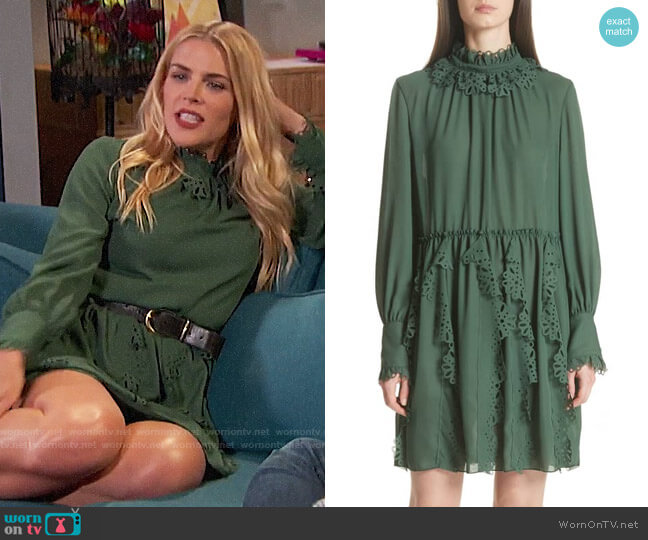 See by Chloe Eyelet Detail Dress worn by Busy Philipps  on Busy Tonight