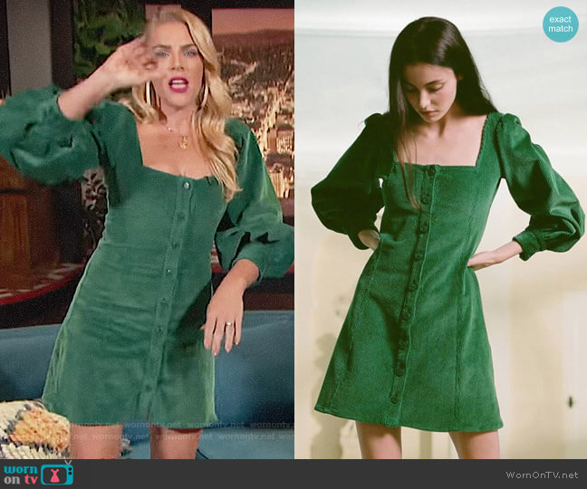 Staud Chandler Dress worn by Busy Philipps  on Busy Tonight