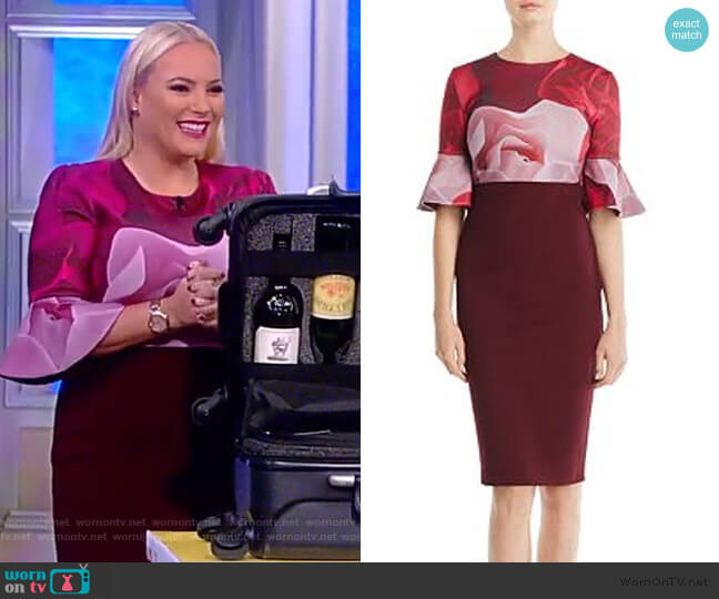 Tzalva Porcelain Rose Dress by Ted Baker worn by Meghan McCain  on The View