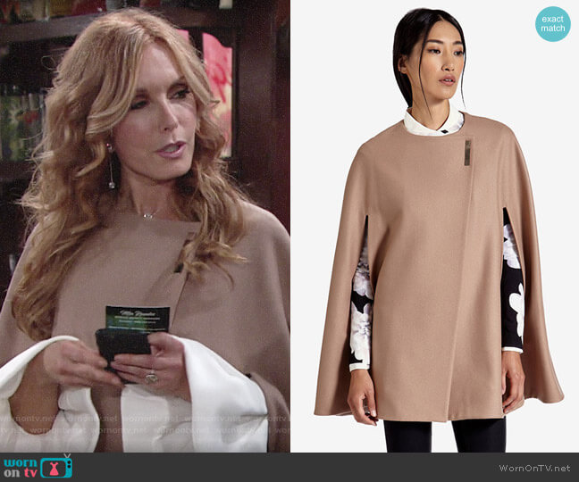 Ted Baker Vickiye Cape worn by Lauren Fenmore (Tracey Bregman) on The Young & the Restless