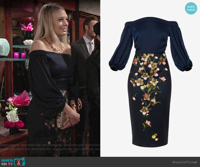 Ted Baker Beaa Arboretum Dress worn by Abby Newman (Melissa Ordway) on The Young & the Restless