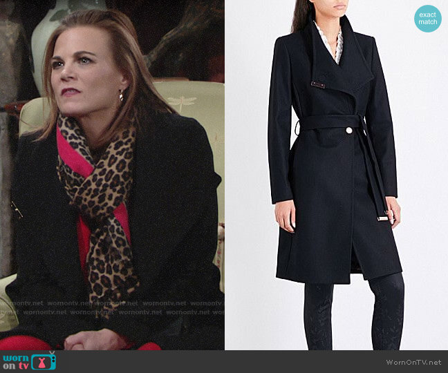 Ted Baker Kikiie Coat worn by Phyllis Newman (Gina Tognoni) on The Young & the Restless