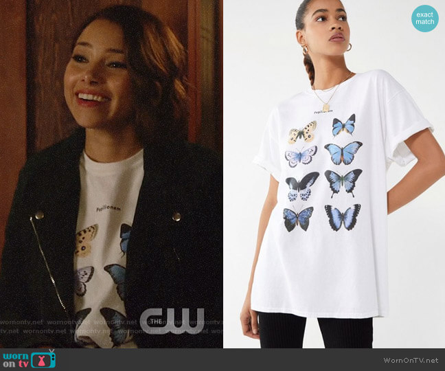 Urban Outfitters Blue Butterfly Tee worn by Nora West-Allen (Jessica Parker Kennedy) on The Flash