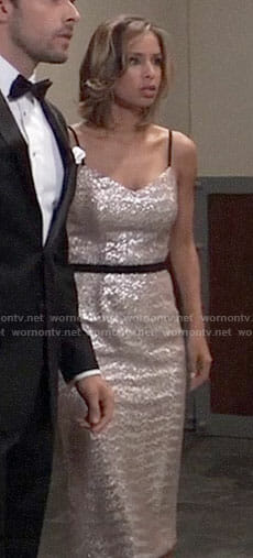 Valerie's silver sequin dress on General Hospital