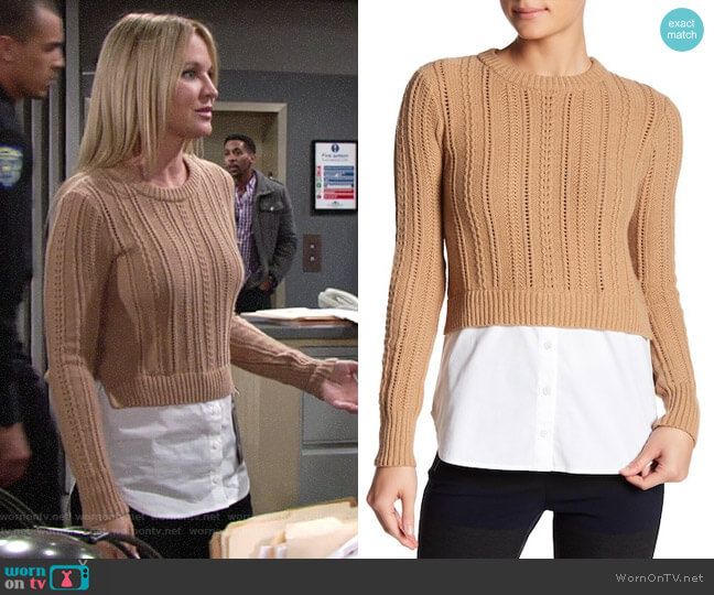 Veronica Beard Carli Sweater worn by Sharon Case on The Young & the Restless
