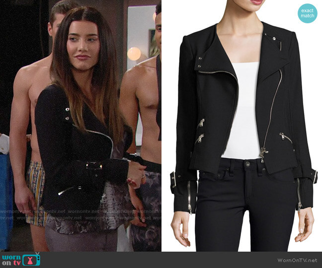 Veronica Beard Jordan Jacket worn by Steffy Forrester (Jacqueline MacInnes Wood) on The Bold & the Beautiful