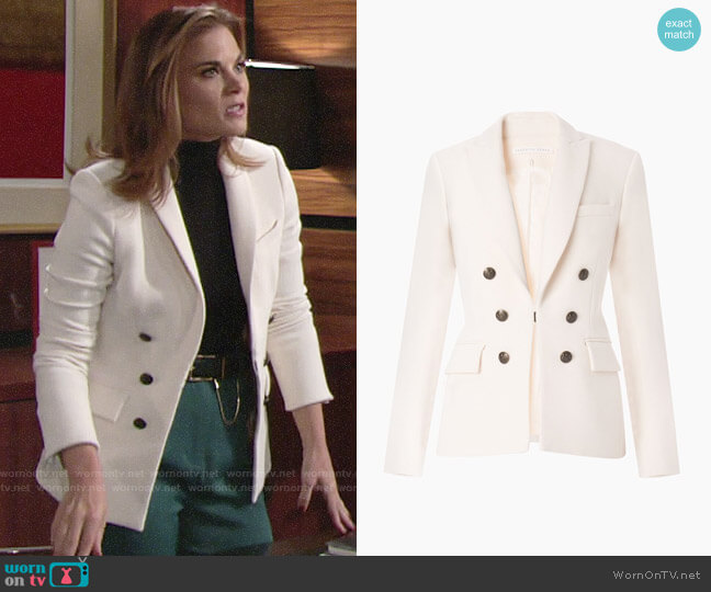 Veronica Beard Peninsula Faux Double Breasted Blazer worn by Phyllis Newman (Gina Tognoni) on The Young & the Restless
