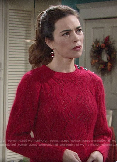 Victoria's red sweater on The Young and the Restless