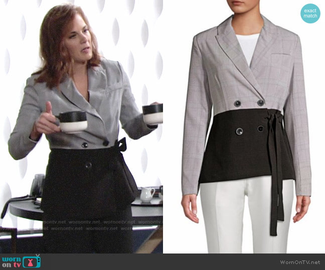 Walter Baker Sophie Waist-Tie Suit Jacket worn by Phyllis Newman (Gina Tognoni) on The Young & the Restless