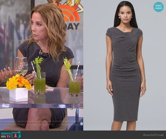 Draped Knit Sheath Dress by White House Black Market worn by Kathie Lee Gifford  on Today