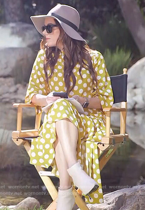 Melanie's yellow polka dot dress on E! News